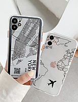 cheap -Case For Apple iPhone 12 / iPhone 11 / iPhone 12 Pro Max Shockproof Back Cover Word / Phrase / Cartoon TPU