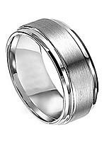 cheap -free engraving -8mm titanium wedding band ring brushed center polished shiny edge (10.5)