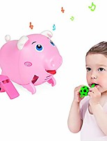 cheap -creative voice activated pig toy, toy running pig whistles sound control induction electric pig toy