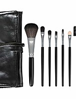 cheap -makeup brush set 7 foundation blending blush eye face powder brush brushes set eye makeup brush beauty makeup tools (pink)
