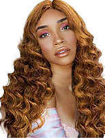 cheap -Synthetic Wig Curly Middle Part Wig Medium Length Light golden Synthetic Hair Women's Soft Cool Blonde