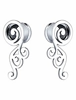 cheap -2g-5/8'' stainless steel double flared screw ear gauges wings ear tunnels ear plugs expanders body piercing jewelry