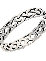 cheap -narrow 4mm neverending celtic knot sterling silver pinky band ring size 16(sizes 3,4,5,6,7,8,9,10,11,12,13,14,15,16)