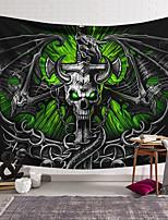 cheap -Wall Tapestry Art Decor Blanket Curtain Hanging Home Bedroom Living Room Decoration Polyester Fiber Skeleton Sword Dragon Lanting Design