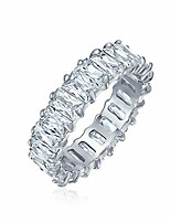 cheap -art deco style aaa cz emerald cut cubic zirconia eternity baguette anniversary wedding band ring for women 925 sterling silver 4mm