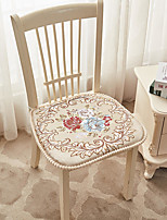 cheap -Satin European Style Retro Seat Cushion Jacquard Thickened Chair Cushion Home Office Bedroom Home Use Dining Table Chair Cushion Contain Pillow Core