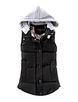 cheap -women plus size warm vest! tootu female sleeveless jacket cotton solid hooded vest (black, 2xl/ asian size:3xl)
