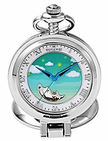 cheap -pocket watch unisex antique mechanical pocket watch punk mechanical skeleton pocket watch with chain as valentine's day unisex simple retro mechanical watch retro pocket watch with c
