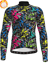 cheap -21Grams Men's Long Sleeve Cycling Jacket Winter Fleece Polyester Black 3D Bike Jacket Top Mountain Bike MTB Road Bike Cycling Thermal Warm Fleece Lining Breathable Sports Clothing Apparel / Stretchy