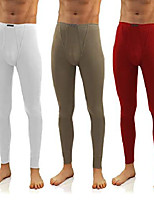 cheap -pack of 3 men's long johns 114 (xl, white/olive/winered)
