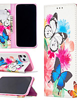 cheap -Case For Apple iPhone 12 / iPhone 11 / iPhone 12 Pro Max Shockproof Full Body Cases Butterfly PU Leather