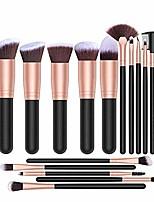 cheap -makeup brushes maxzo makeup brush set professional 16-piece make up brushes premium synthetic foundation brush blending face powder blush concealers eye cosmetics make up brush kits (rose gold)