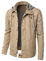 cheap -men's faux leather jacket-grey-l-(fpf-10)
