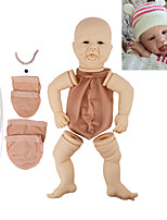 cheap -17 inch Reborn Toddler Doll DIY Unpainted Reborn Baby Doll Kit Professional-Painting Kit Baby Boy Baby Girl Hand Made Floppy Head No Eyelashes, Hair, Flesh Color Cloth Silicone Vinyl with Clothes and
