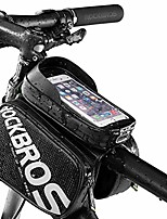 cheap -bike phone bag waterproof bicycle top tube bag mountain bike front frame bag pannier bag touch screen phone case compatible with iphone xr 8 plus 7 6s