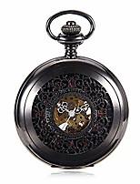 cheap -pocket watch antique mechanical pocket watch punk mechanical skeleton pocket watch with chain as valentine's day unisex simple retro mechanical watch pocket watch with chain