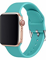 cheap -band compatible apple watch series 1 2 3 4 5 38/40mm 42/44mm flexible silicone washable breathable candy colors iwatch band (38/42mm large, 1)