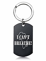 cheap -mama i can't breath keyring presents keychain men key chain black lives matter stainless steel key ring key chains(black-style01)