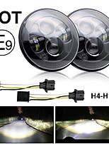 cheap -2 Pcs Led Headlight 7 Inch Hi-Lo 50W 30W 5000LM 3000LM for Moto Bike Lada Niva UAZ Offroad 4x4 12V 24V