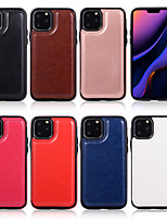 cheap -Case For Apple iPhone 11 / iPhone XR / iPhone 11 Pro Shockproof Back Cover Solid Colored PU Leather / TPU