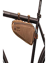 cheap -frame bag leather canvas - maurice g. bicycle bag tool bag ladies men brown frame