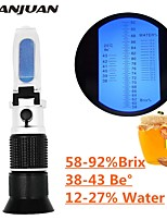 cheap -Handheld Refractometer honey Brix 58-92%(sugar content)Beekeeping Refraction honey concentration meter with ATC