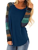 cheap -women's long sleeve shirts tunic tops for women loose shirts casual blue m