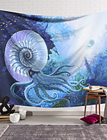 cheap -Wall Tapestry Art Decor Blanket Curtain Hanging Home Bedroom Living Room Decoration Polyester Fiber Animal Painted Nautilus Sailboat Lanting Design