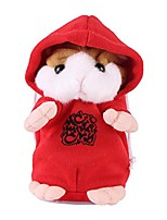 cheap -talking toy hamster, adorable lovely talking hamster sound record speaking plush toy early learning kids baby gift(red)