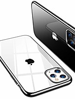 cheap -crystal clear compatible with iphone 11 pro max case [non-yellowing& thin] soft silicone clear iphone 11 pro max case shockproof phone cover for iphone 11 pro max [6.5 inch] (black)