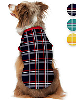 cheap -Dog Shirt / T-Shirt Plaid Printed Classic British Casual / Daily Dog Clothes Puppy Clothes Dog Outfits Breathable Black Yellow Green Costume for Girl and Boy Dog Polyster S M L XL