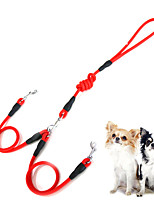 cheap -Dog Cat Double Dog Leash Training Leash Vest Adjustable Flexible Breathable Durable Outdoor Walking Solid Colored Polyester Corgi Pug Bichon Frise Schnauzer Poodle Chihuahua Black Purple Yellow Red