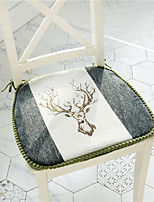 cheap -Northern Europe Modern Antlers Furry Edges Seat Cushion Home Office Seat Bar Dining Chair Seat Pads Garden Floor Cushion