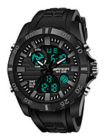 cheap -SANDA Men's Digital Watch Digital Sporty Classic Water Resistant / Waterproof Analog - Digital Black / Yellow Black / Orange Black / One Year / Rubber / Japanese