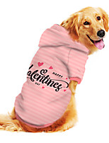 cheap -Dog Hoodie Print Letter & Number Adorable Cute Casual / Daily Dog Clothes Puppy Clothes Dog Outfits Breathable Blue Pink Green Costume for Girl and Boy Dog Polyster S M L XL