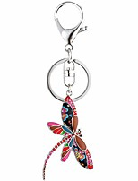 cheap -multicolor dragonfly keychain for women unique enamel cute insect charm keyring