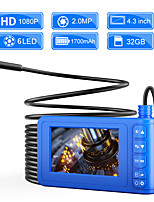 cheap -5.5 mm endoscope high definition camera auto repair engine industrial pipe 4.3 inch one screen sewer electronic air conditioning hard line 1m with 32G TF card