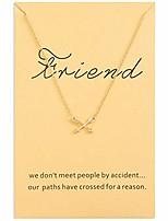 cheap -women cross arrow charm necklace 16k gold plated
