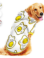 cheap -Dog Hoodie Egg Cartoon Funny Cute Casual / Daily Dog Clothes Puppy Clothes Dog Outfits Breathable Yellow Red Blue Costume for Girl and Boy Dog Polyster S M L XL