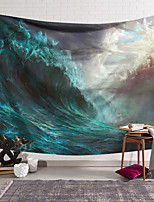 cheap -Wall Tapestry Art Deco Blanket Curtain Hanging Home Bedroom Living Room Dormitory Decoration Polyester Fiber Painted Tsunami Sailing Boat