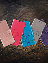 cheap -Case For Samsung Galaxy Galaxy Note 20 Ultra / Galaxy A71 5G / Galaxy A51 5G Card Holder / Shockproof / Embossed Full Body Cases Solid Colored PU Leather / TPU