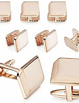 cheap -wedding metal cufflinks and studs set for men - best gifts for wedding business formal event