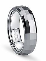 cheap -8mm wedding band for men tungsten carbide ring engagement ring wedding band (steel-men, 12.5)