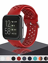 cheap -band for versa/versa 2 for men women,waterproof breathable wristband quick release sport strap for fitbit versa/versa lite/versa se (red)…