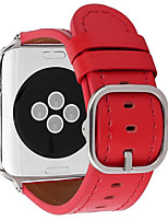 cheap -Watch Band for Apple Watch Series 6 / SE / 5/4 44mm / Apple Watch Series 6 / SE / 5/4 40mm / Apple Watch Series 3/2/1 38mm Apple Classic Buckle Genuine Leather Wrist Strap