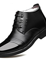 cheap -Men's Oxfords Business Casual Daily Office & Career Walking Shoes Cowhide Warm Black Brown Winter