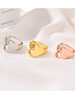 cheap -Band Ring Geometrical Rose Gold Gold Silver Alloy Alphabet Shape Simple Punk Trendy 1pc One Size / Men's / Couple's