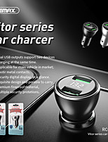 cheap -Remax Car Charger 3.4A Dual USB Output Metal Mobile Phone Car Cigarette Lighter With LED Digital Display