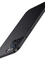 cheap -Case compatible with iphone 12 pro and iphone 12 thin hard case with screen protector (black)