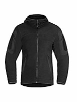 cheap -Men's Hiking Fleece Jacket Winter Outdoor Lightweight Windproof Fleece Lining Breathable Jacket Top Fleece Fishing Climbing Camping / Hiking / Caving Black Green Gray / Quick Dry